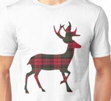 Reindeer in Plaid Unisex T-Shirt