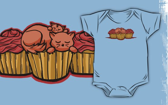 Cupcake Cats by Karen  Hallion