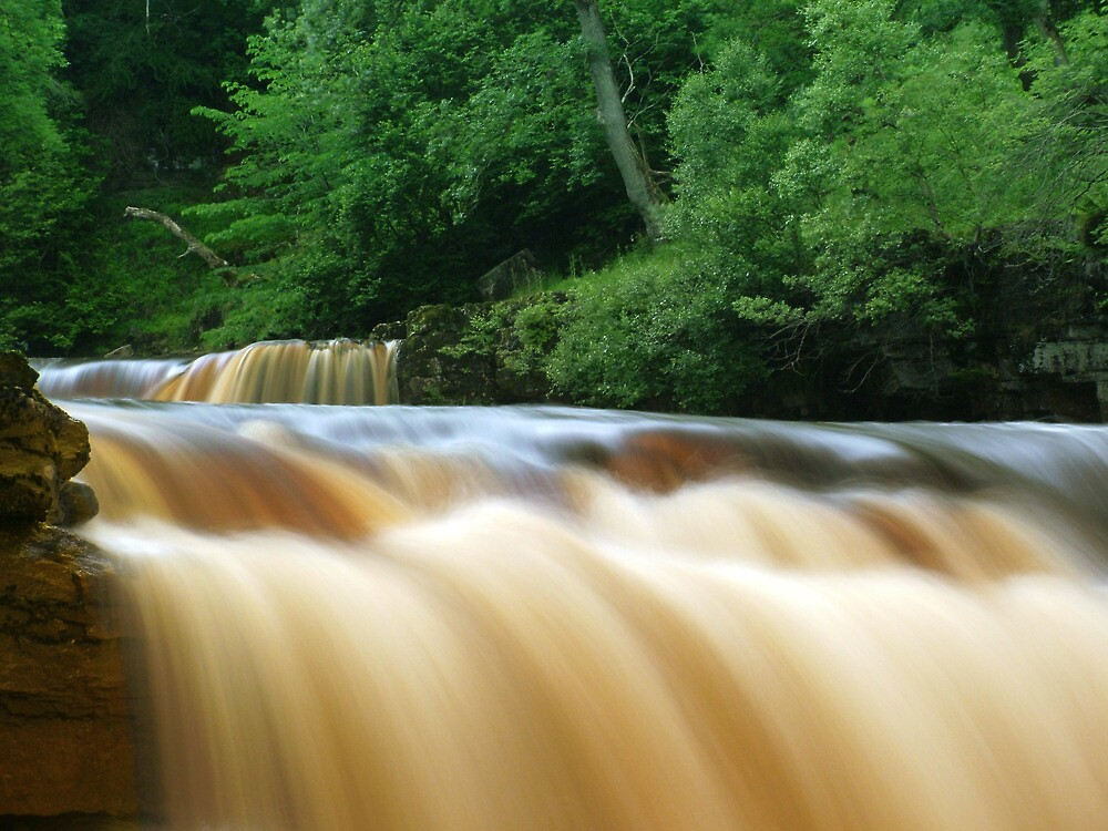 Kisdon Force in Swaledale by Jim Round