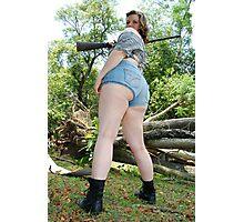 Better look a little higher . She has a gun! Photographic Print