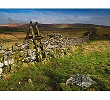 Yorkshire Dry Stone Wall Photographic Print