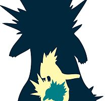 PKMN Silhouette - Cyndaquil Family by PKMNsilhouette
