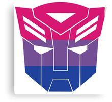 Autobot Pride [Bisexual] Canvas Print