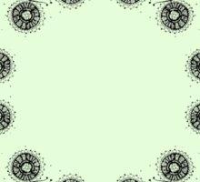 Light green fantastic plant kaleidoscope pattern Sticker