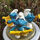 Smurf trio by freshairbaloon