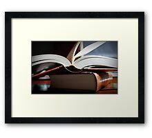 Open Book  -A Moment In Time- Framed Print