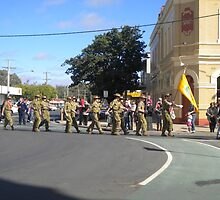 Anzac  Day - 2012 Echuca - Marching Cadets  by djnatdog