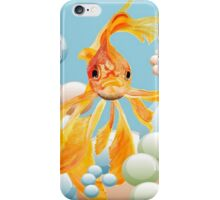 Vermillion Goldfish Blowing Bubbles iPhone Case/Skin
