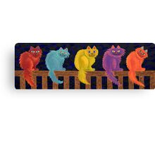 Fence Cats Canvas Print