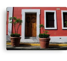 House in Old San Juan Canvas Print