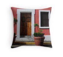 House in Old San Juan Throw Pillow