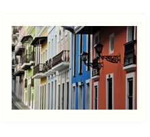 Street in Old San Juan Art Print