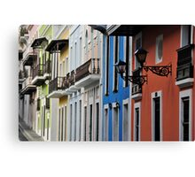 Street in Old San Juan Canvas Print