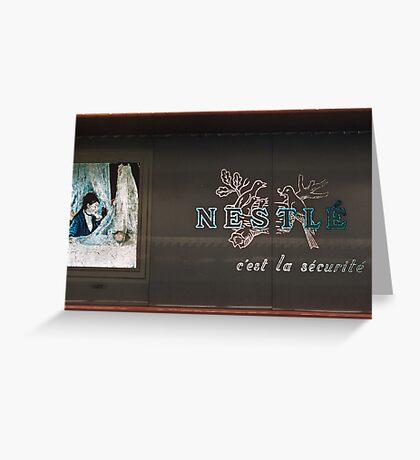 Nestle sign Franklin Roosevelt Metro station 19570919 0004  Greeting Card