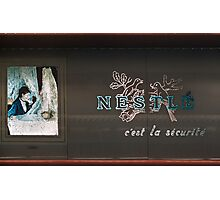 Nestle sign Franklin Roosevelt Metro station 19570919 0004  Photographic Print