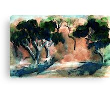 Into the wilds, watercolor Canvas Print