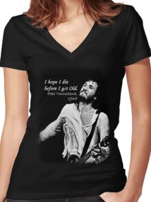 The Pete Townshend promise Women's Fitted V-Neck T-Shirt