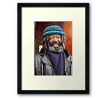 winter on the streets Framed Print