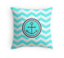 Chevron Anchor Smile Illusion Throw Pillow