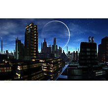 Moon over Santos Grayling Photographic Print