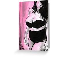 Je Suis Une Femme Greeting Card