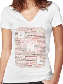 Barenaked Ladies - All the songs! Women's Fitted V-Neck T-Shirt
