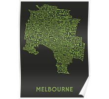 Melbourne Poster - Lime Charcoal Poster