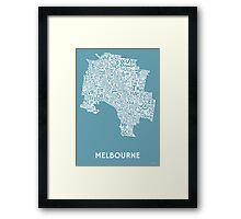 Melbourne Poster - Kiss & Teal Framed Print