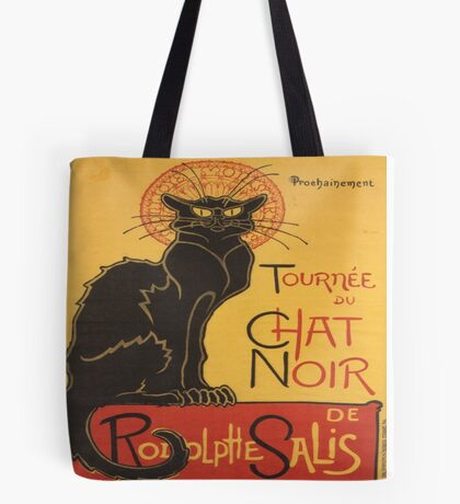 Soon, the Black Cat Tour by Rodolphe Salis Tote Bag