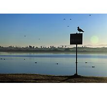 Sunrise at Lakeside Photographic Print