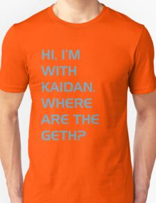 Where are the Geth? Unisex T-Shirt