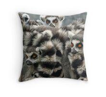 Ring -Tailed Lemur Throw Pillow