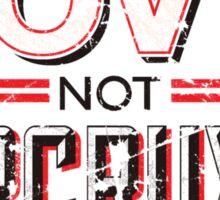 Make Love Not Horcruxes Sticker
