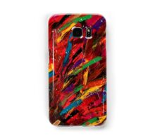 Abstract multi-colored brush strokes Samsung Galaxy Case/Skin