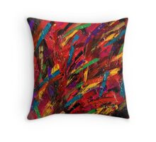 Abstract multi-colored brush strokes Throw Pillow