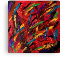 Abstract multi-colored brush strokes Canvas Print