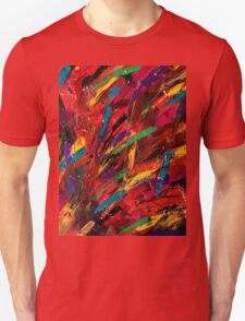 Abstract multi-colored brush strokes T-Shirt