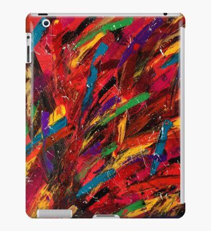 Abstract multi-colored brush strokes iPad Case/Skin