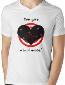 Shot Thru The Heart Mens V-Neck T-Shirt