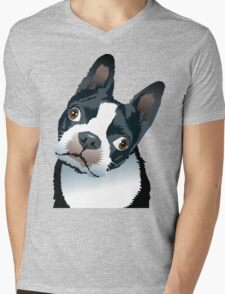 quizzical Bailey Mens V-Neck T-Shirt