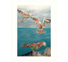 seagulls.  Art Print