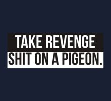 take revenge, shit on a pigeon by Terry To