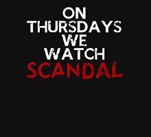 On Thursdays We Watch #Scandal Women's Fitted V-Neck T-Shirt