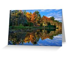 Fall Reflection Landscape Greeting Card