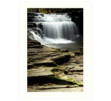 Pure And Tranquil Waterfall Landscape Art Print