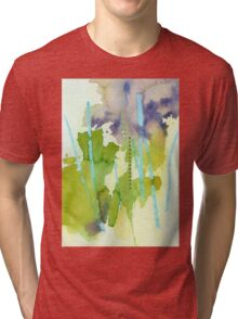 Watercolor Abstraction: Crayon Tri-blend T-Shirt