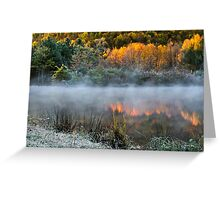 Cold Fire Sunrise Landscape Greeting Card