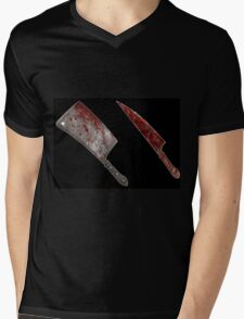 Bloody tools of death Mens V-Neck T-Shirt