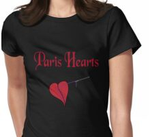 Paris Hearts Womens Fitted T-Shirt