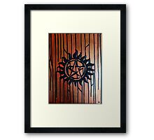 Supernatural Anti Possession Textured Abstract Framed Print